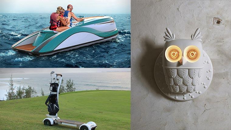 Luxus-Design: Jet Ski, Golfboard & Eulen-Lampe Luxusstuff