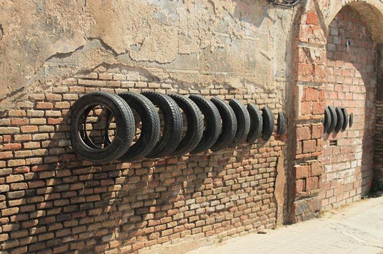 Street Art mit Reifen Pneumatic_02