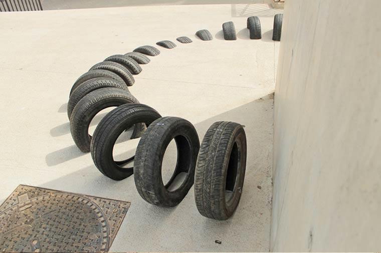 Street Art mit Reifen Pneumatic_03