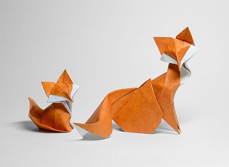 Wasser-gefaltene Tier-Origami Quyet_01