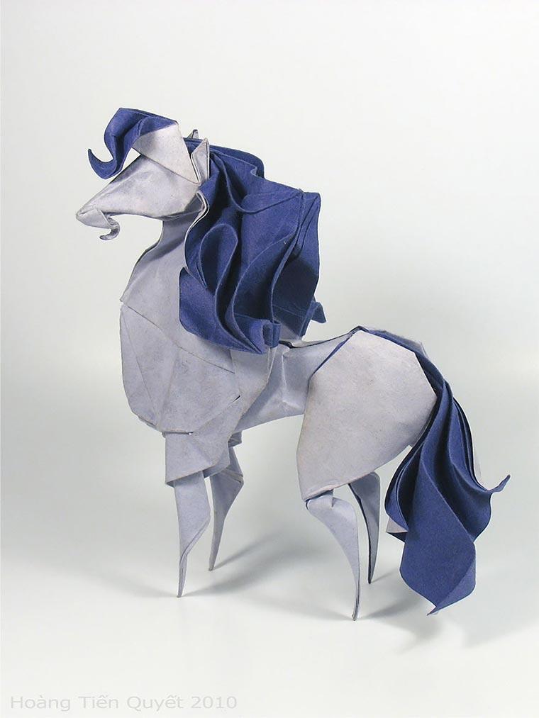 Wasser-gefaltene Tier-Origami Quyet_02