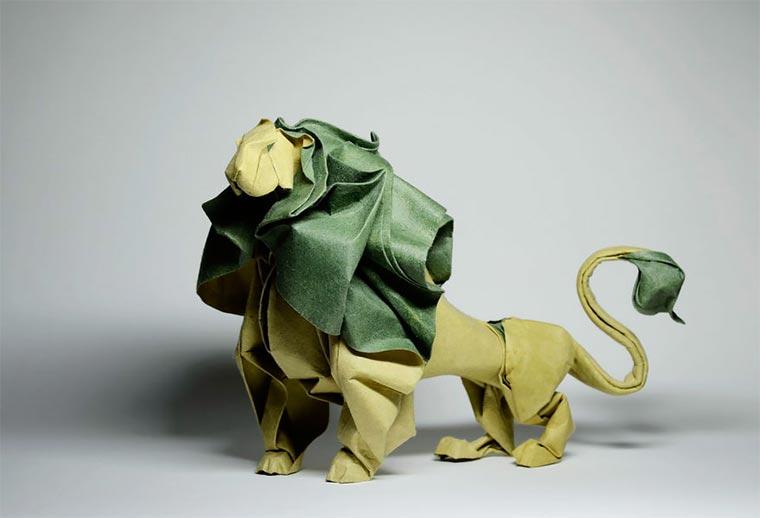 Wasser-gefaltene Tier-Origami Quyet_03