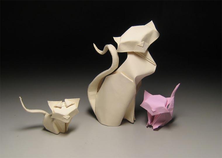 Wasser-gefaltene Tier-Origami Quyet_04