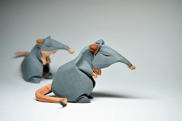 Wasser-gefaltene Tier-Origami Quyet_06