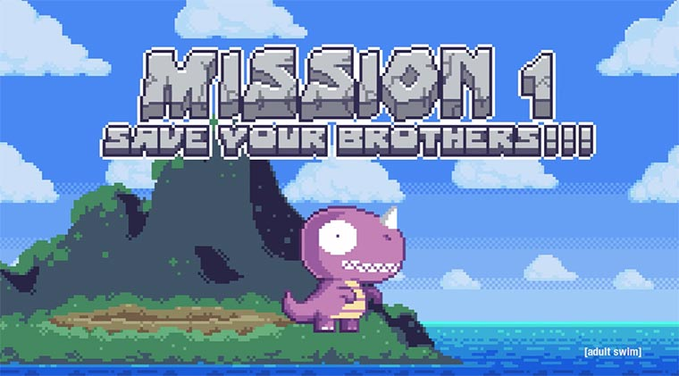 Pixel-Animation: Super Dino Boys Super-Dino-Boys