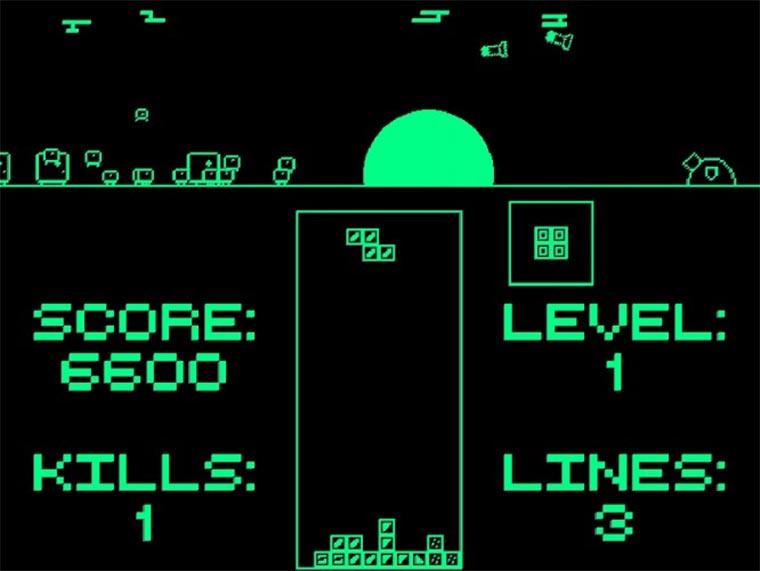 Tetris-gesteuertes Abwehrraketen-System
