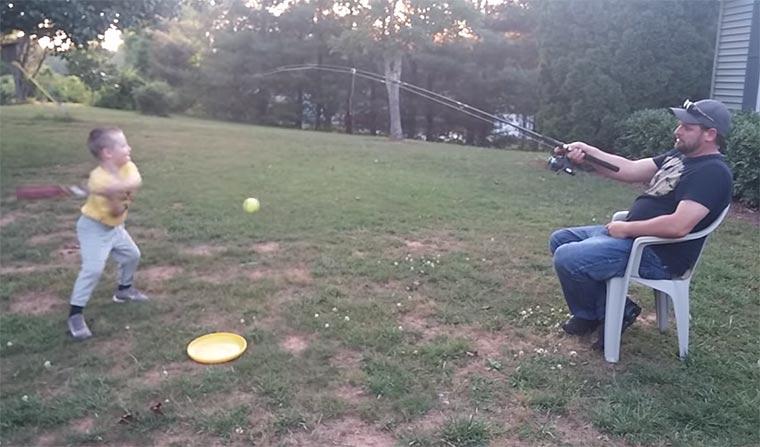 Faulster Vater der Welt baseball-angeln