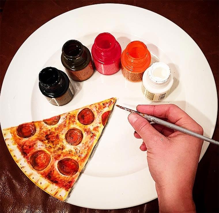 Kreative Teller-Malereien