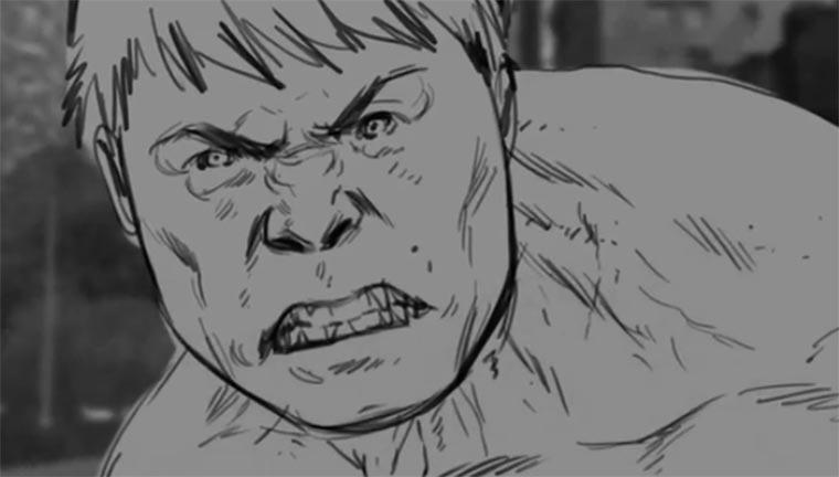 Hulk vs. Hulkbuster Pre CGI hulk-pre-animated
