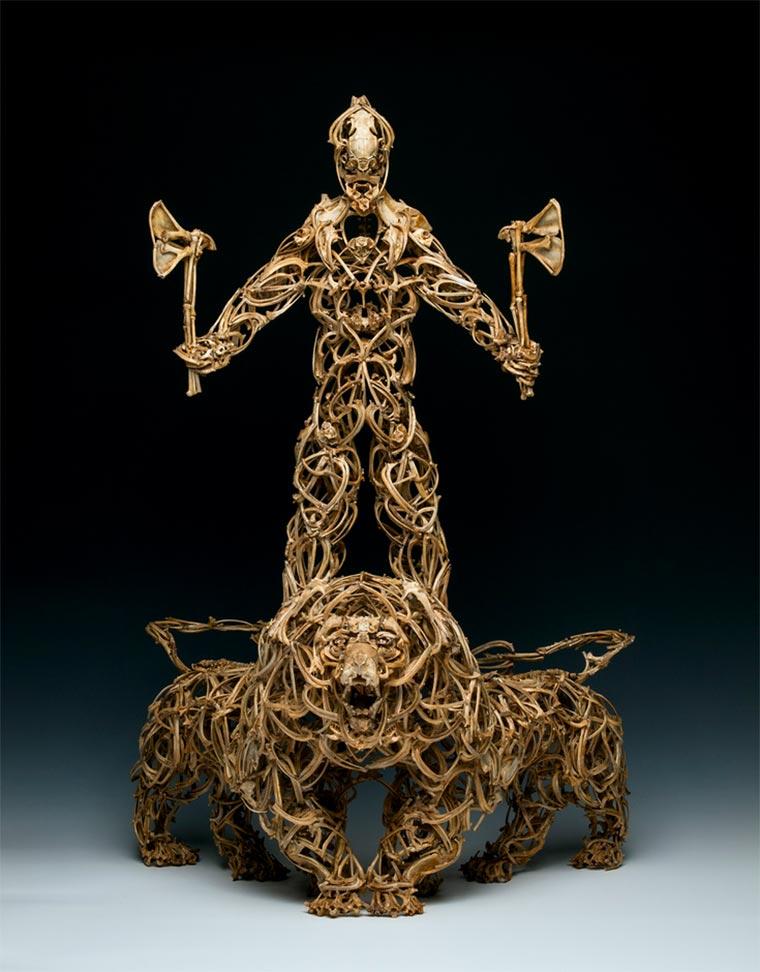 Skulpturen aus Tierknochen knochenskulpturen_04