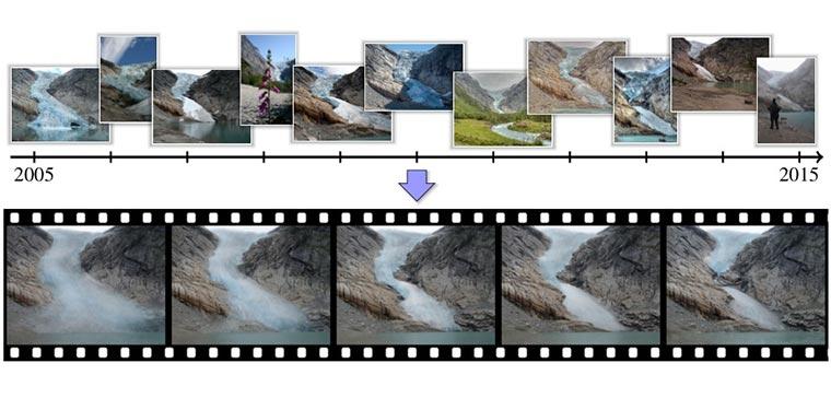 Timelapse aus Internet-Bildern mining-timelapse