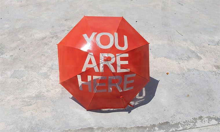 You Are Here-Regenschirm