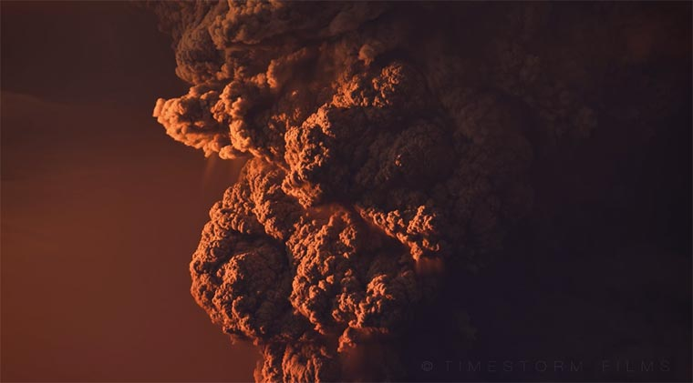Vulkanausbruch im Zeitraffer Calbuco