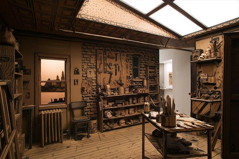 Künstler-Atelier aus Pappe Cardboard-Studio_03