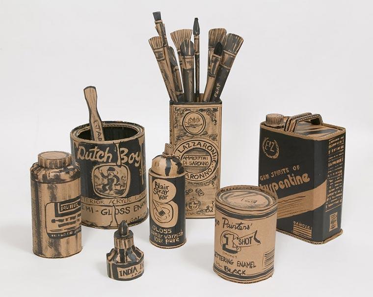 Künstler-Atelier aus Pappe Cardboard-Studio_04
