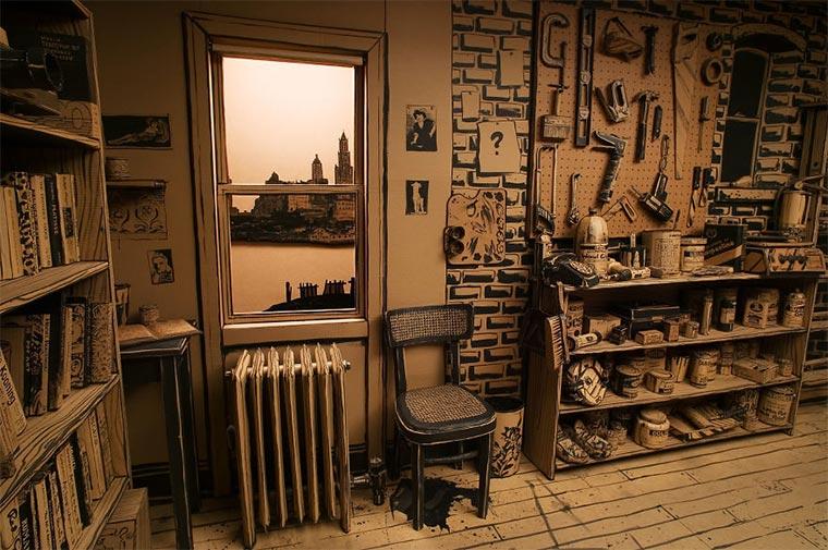 Künstler-Atelier aus Pappe Cardboard-Studio_06