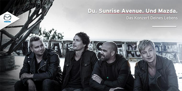 Mit Mazda zu Sunrise Avenue Mazda-Konzert-Sunrise-Avenue_01