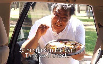Pizza-in-car