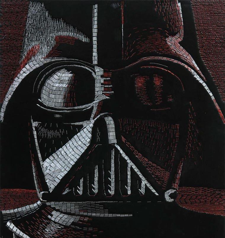 Star Wars aus 77.886 Heftklammern