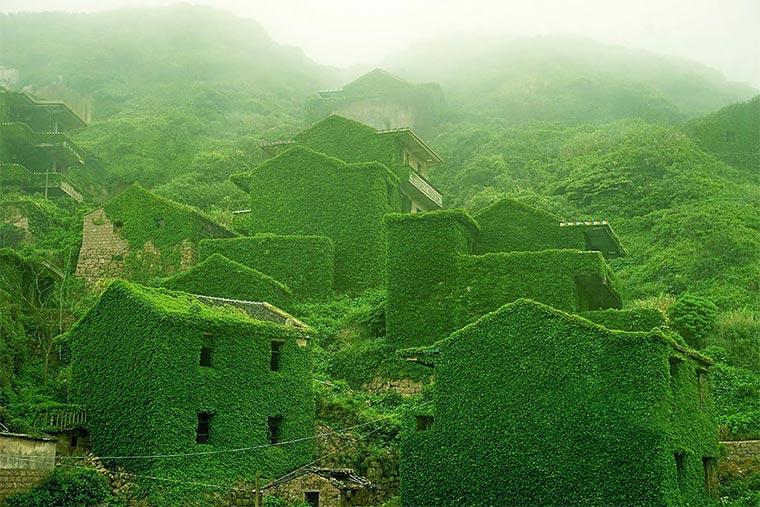 Natur holt sich verlassenes Dorf zurück