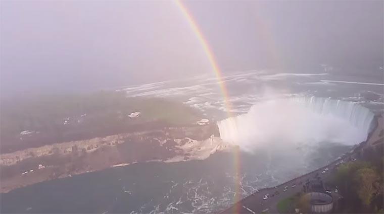 Regenbogenkreis über Niagarafällen