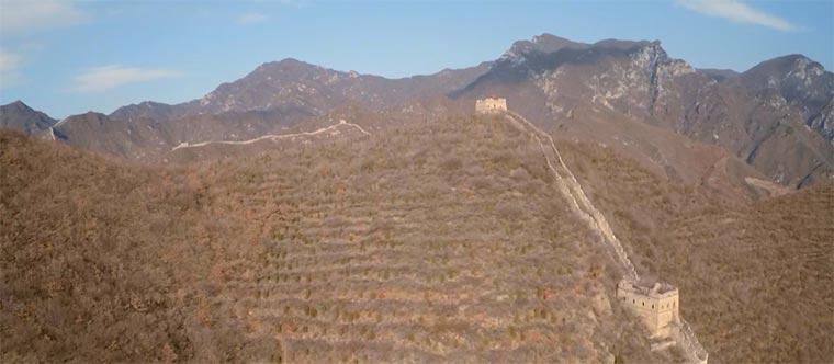 Mit der Drohne über die Chinesische Mauer