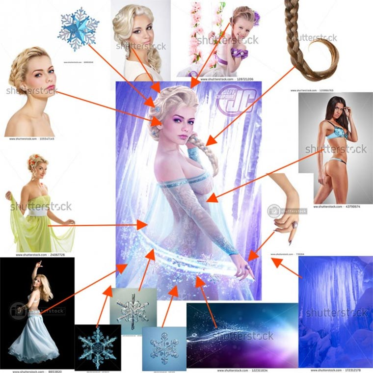 Photoshop-Collagen aus Stock-Fotos Photoshop-Stock_02