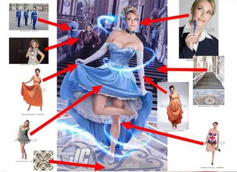 Photoshop-Collagen aus Stock-Fotos Photoshop-Stock_03