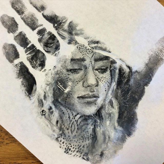 Handstempel-Malerei Russel-Powell_05