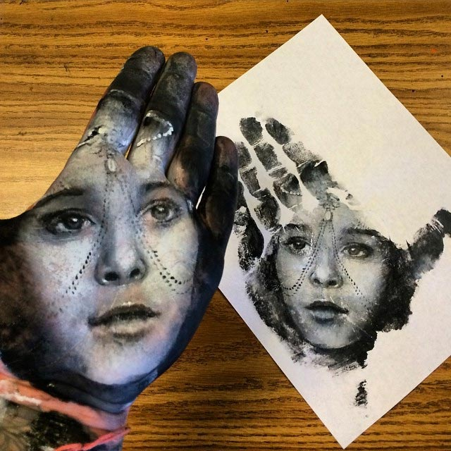 Handstempel-Malerei Russel-Powell_08