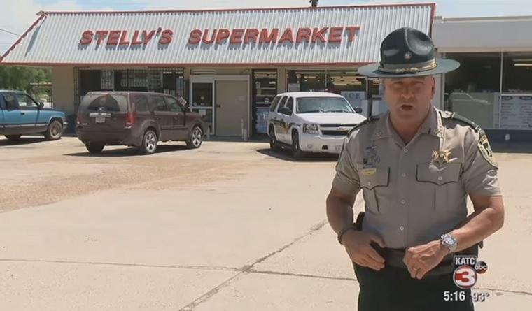 Sheriff macht Dieb eine Ansage Sheriff
