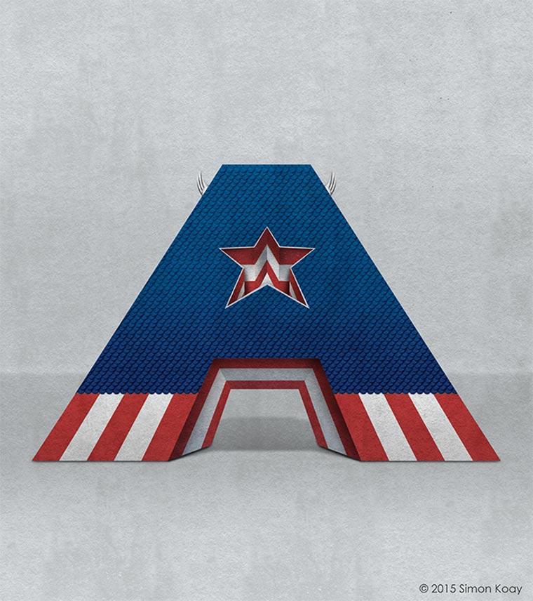 Superhelden-Alphabet