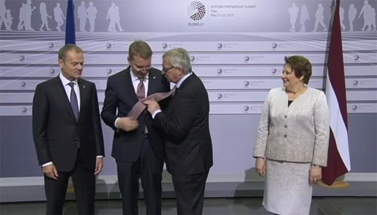 Jean-Claude Juncker betrunken beim EU-Gipfel