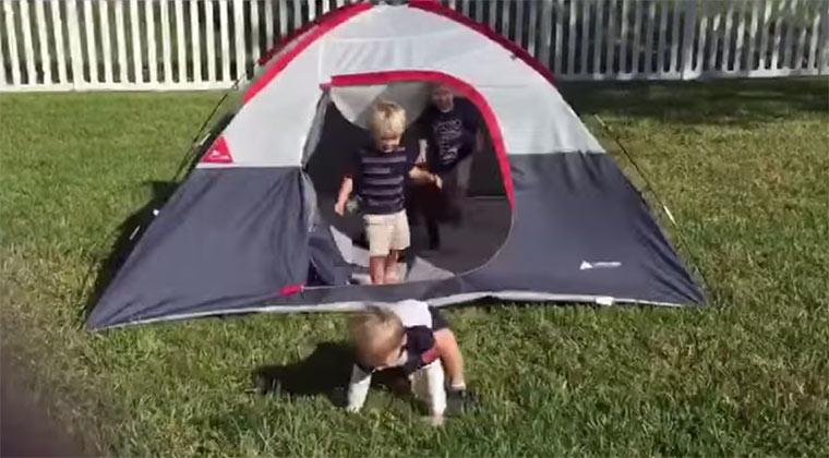 TGIF = Tierisch gut im Fallen kids-tent-fail