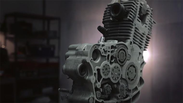 Stopmotion: Motor wird weggeschliffen motorschleifen