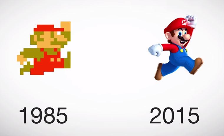 Videospiel-Charaktere im Wandel der Zeit