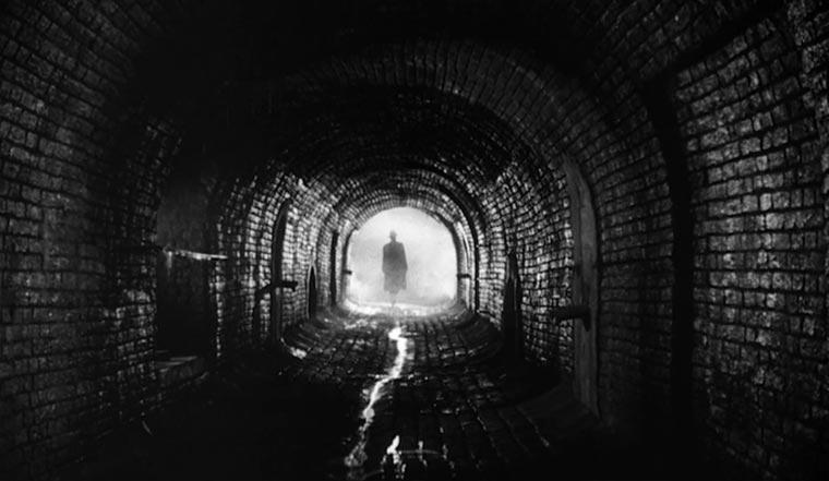 Hommage an den Schwarz-Weiß-Film Bright-Night