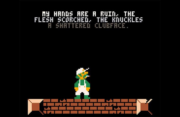 Super-gelangweilter Tristesse-Mario