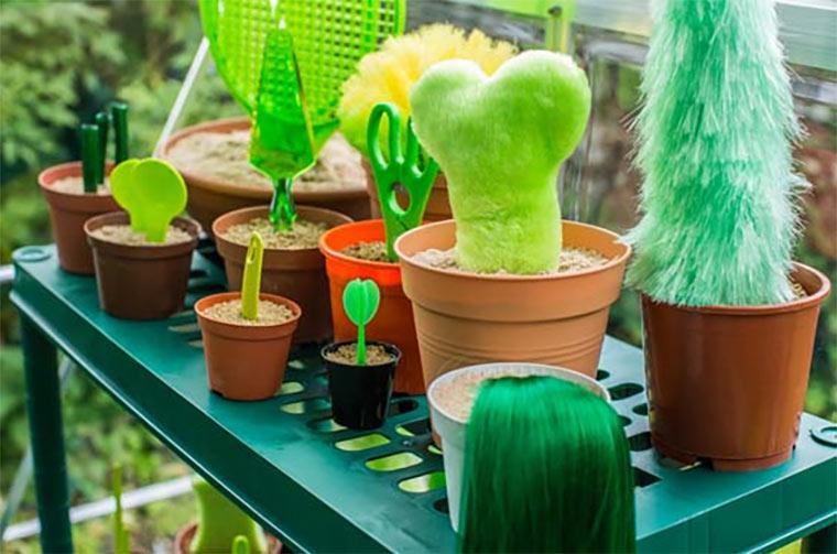 Gewächshaus grüner Gegenstände Fruitless_02