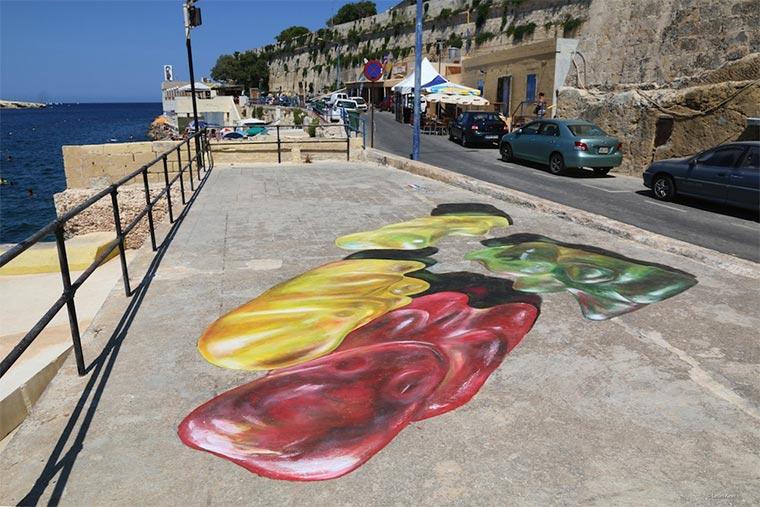Gummibären-Bodenmalerei Gummybears_Street-Art_03