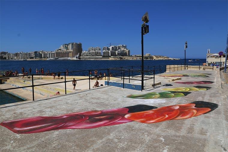 Gummibären-Bodenmalerei Gummybears_Street-Art_05