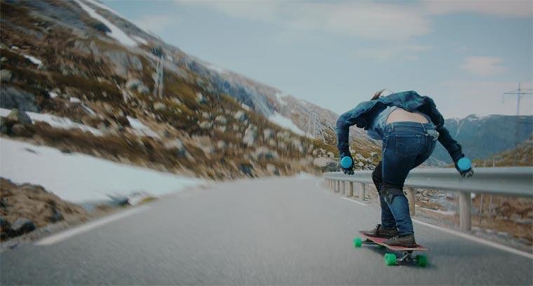 Longboarden durch Norwegen Ishtar