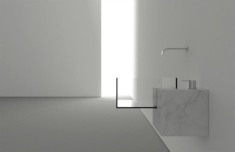 Durchsichtiges Waschbecken KUB_02