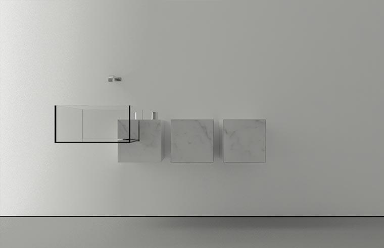 Durchsichtiges Waschbecken KUB_03