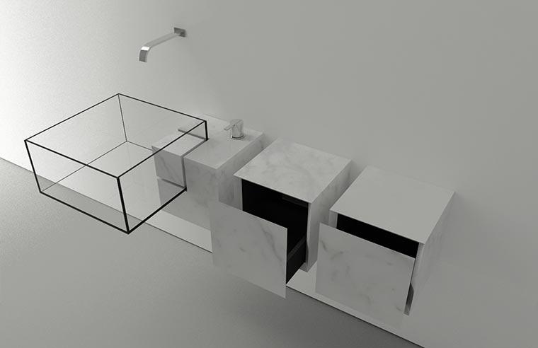 Durchsichtiges Waschbecken KUB_04
