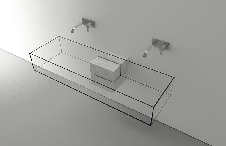Durchsichtiges Waschbecken KUB_05
