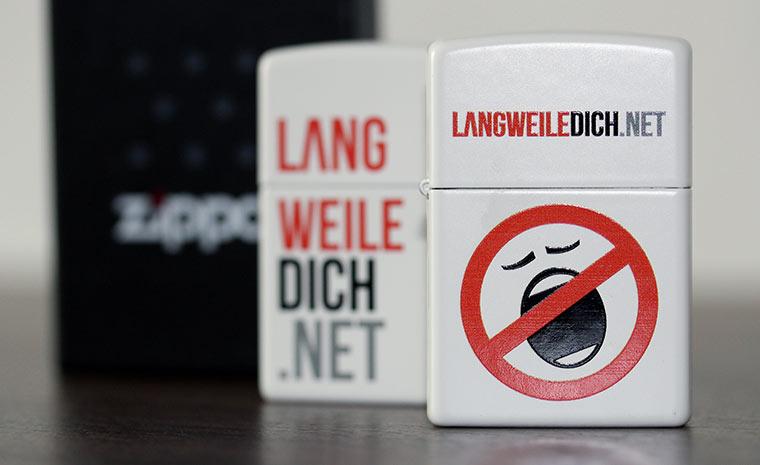 Gewinnt LangweileDich.net-Zippos!