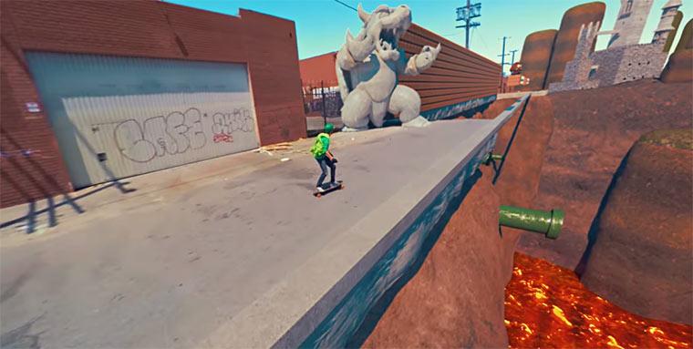 Super Mario Longboarding Mario-Skate