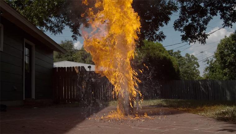 6.000 Streichholzköpfe brennen in 2.500 FpS