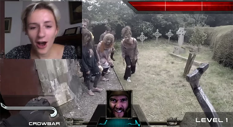 Real Life Shooter über Chatroulette steuern Real-Life-First-Person-Shooter